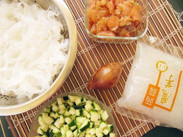shirataki di konjac al salmone_ingredienti
