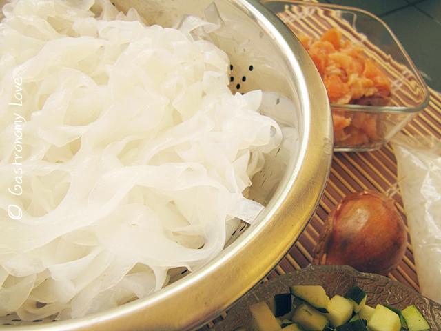 shirataki di konjac al salmone_preparazione 1