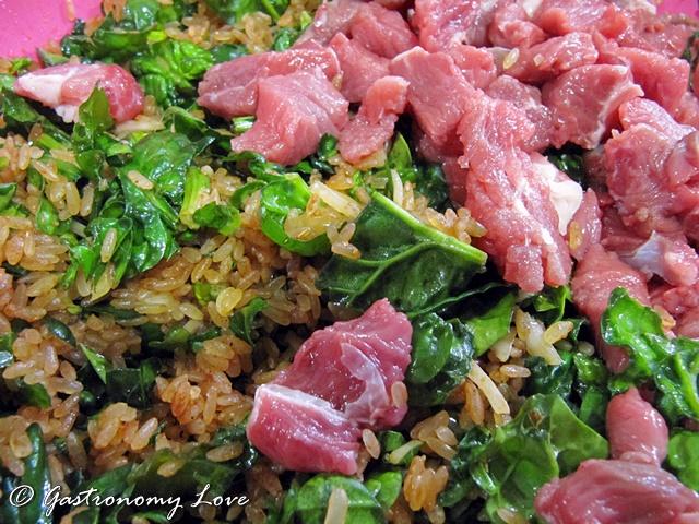 Riso alla Tunisina_ Rouz Djerba_riso spinaci e carne