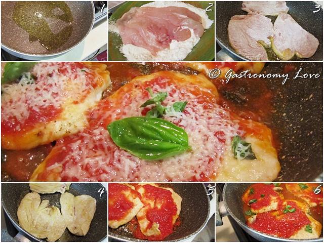 petto di pollo al pomodoro e parmigiano_preparazione