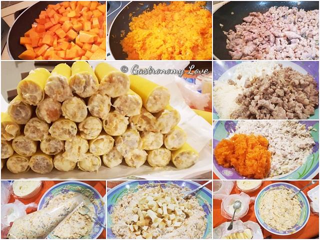 Cannelloni alla zucca_preparazione