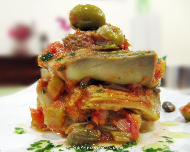 Caponata di carciofi alla siciliana