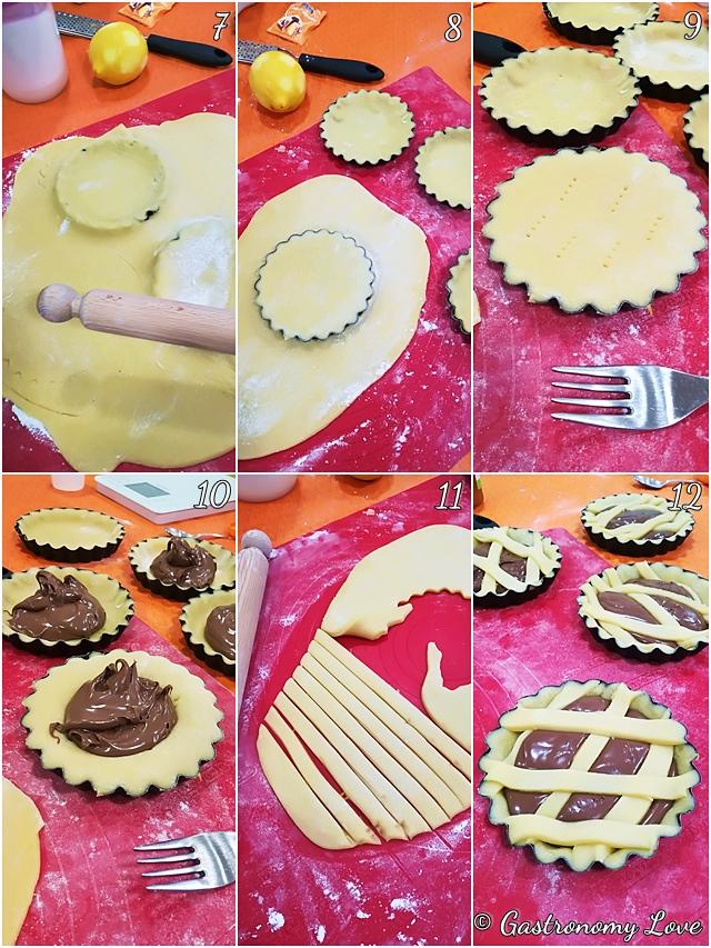 Crostata alla Nutella che resta morbida_preparazione