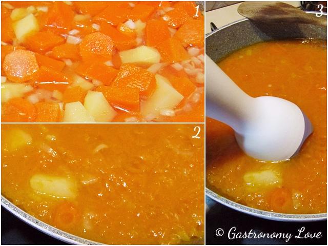 Vellutata di zucca,carote e patate_senza panna