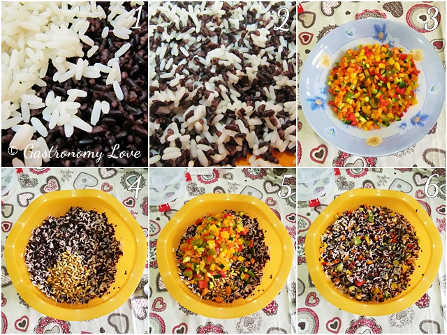 Insalata di riso Night & Day di Luca Montersino_preparazione
