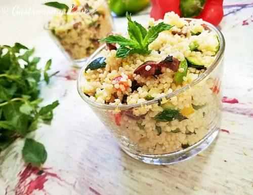 Insalata di cous cous con verdure crude