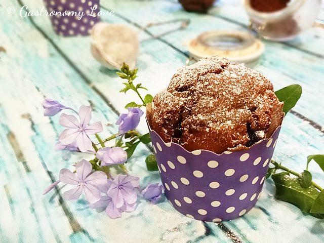 Muffins al mascarpone e doppio cioccolato