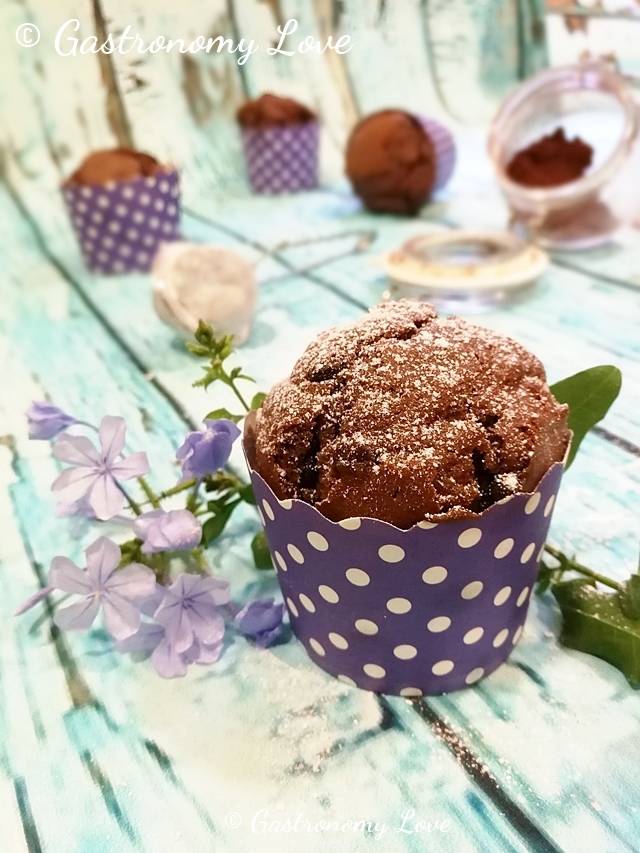 Muffin al mascarpone e doppio cioccolato