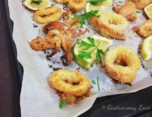 Calamari gratinati al forno facili e veloci