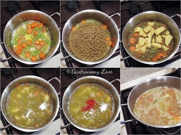 Come preparare la zuppa di lenticchie e patate