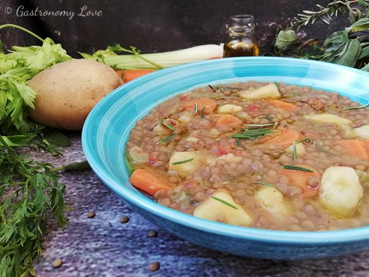 minestra lenticchie e patate