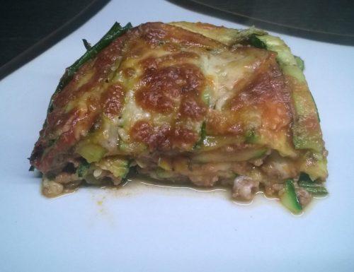 Lasagne di zucchine grigliate e ragù