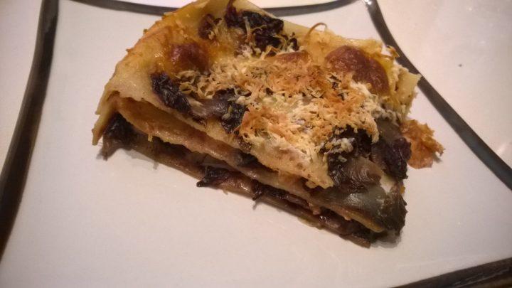 Lasagne radicchio e scamorza