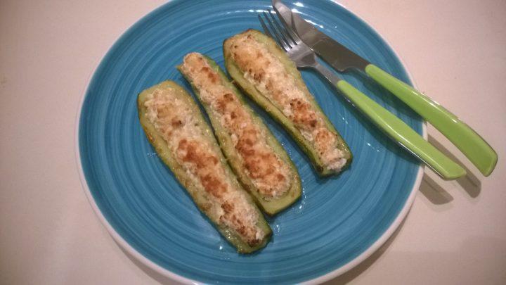 Zucchine ripiene di ricotta e prosciutto