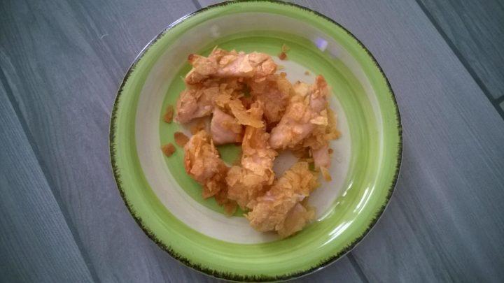 Pollo impanato con patatine fritte