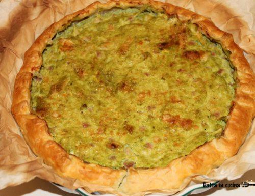Torta salata ricotta e piselli