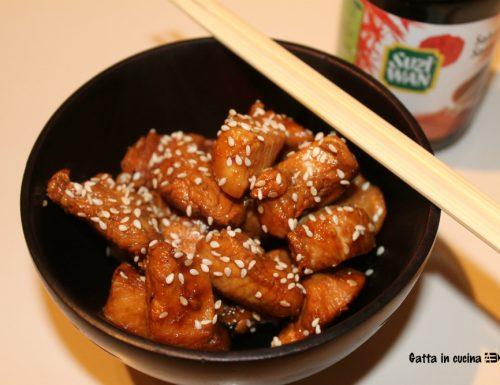 Pollo al miele, zenzero e salsa di soia