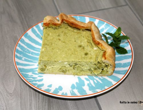 Torta salata piselli e feta