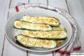 Zucchine ripiene di ricotta, menta e feta