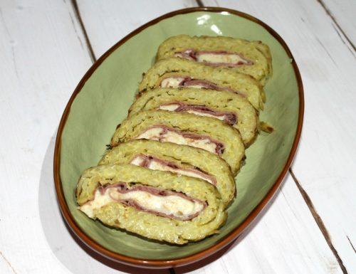 Rotolo di patate con scamorza e speck