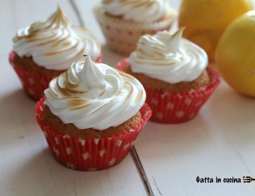 Cupcake al limone con meringa
