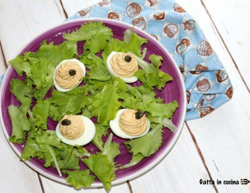 Uova ripiene di tonno