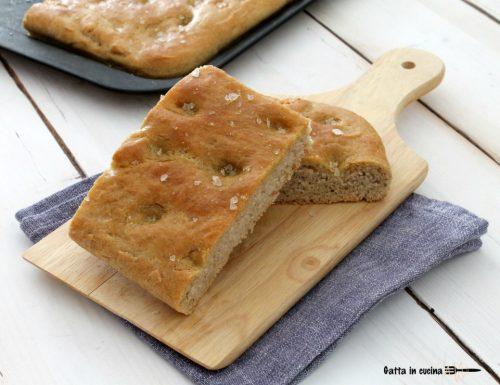 Focaccia semi integrale con farina tipo 2
