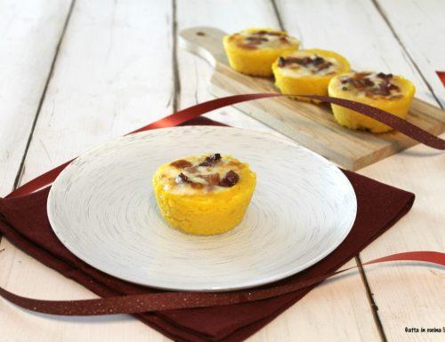 Cestini di polenta con gorgonzola e taleggio