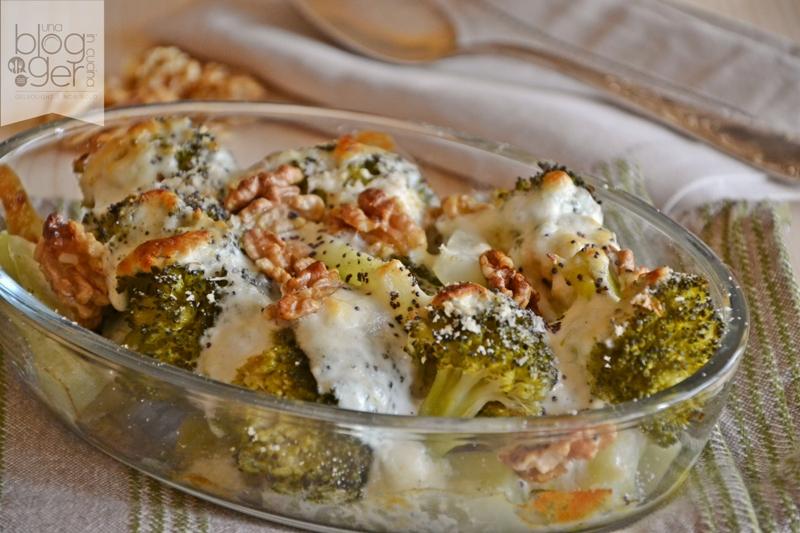 Broccoli gratinati con stracchino e noci (2)