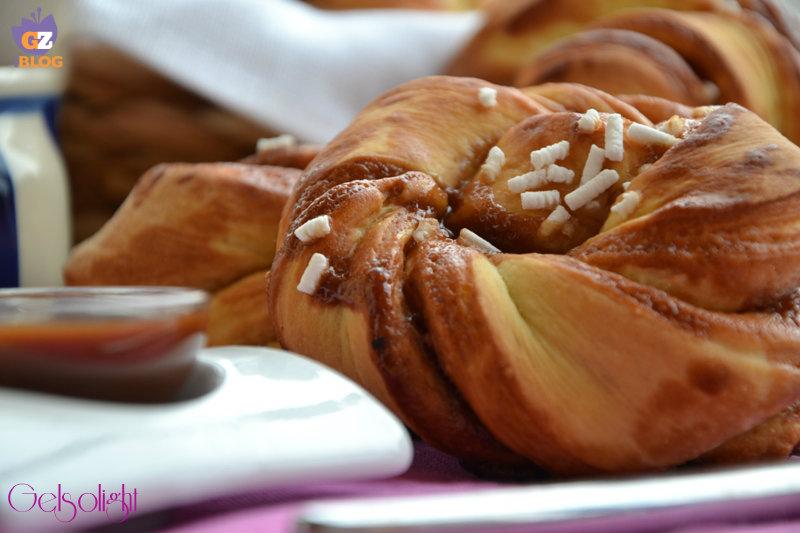 girelle di pan brioches con crema nocciole oriz