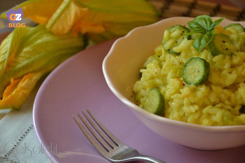risotto carbonara di zucchine e fiori