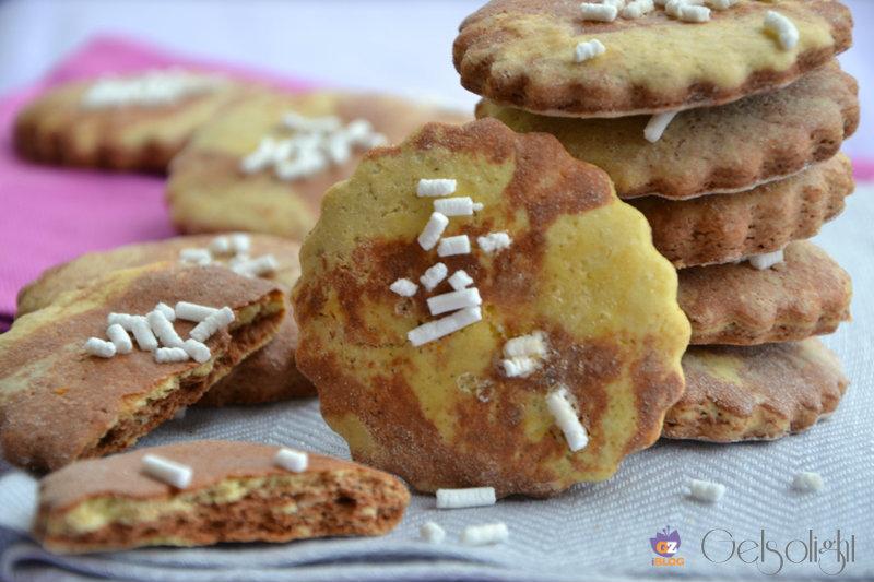 Biscotti marmorizzati all'olio