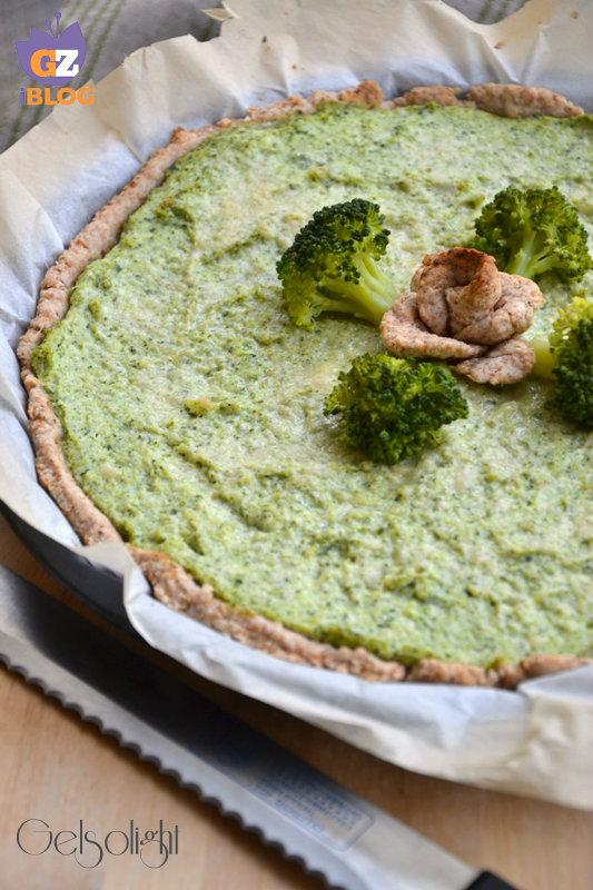 torta ai broccoli con pasta matta intera