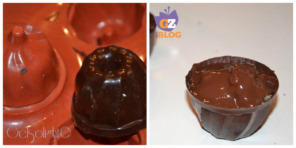Collage cioccolatini pandoro