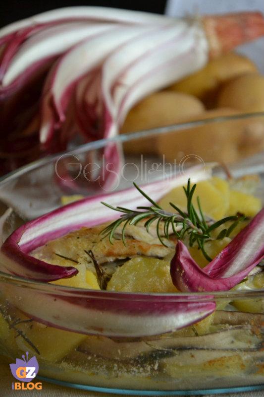 gratin di radicchio e patate vert