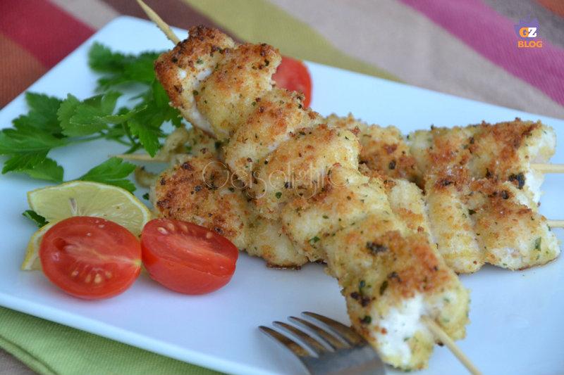spiedini di pollo impanati in padella  or