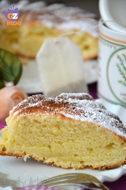 torta senza uova fetta vert tazza