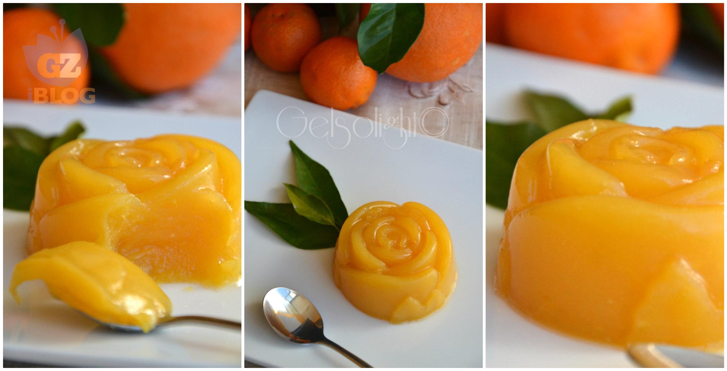 Collage budino mandarino