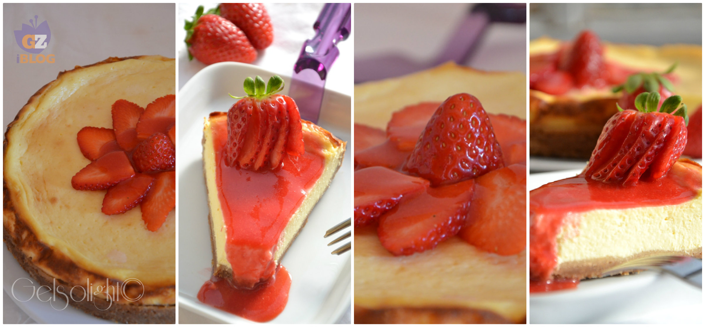 Collage cheesecake