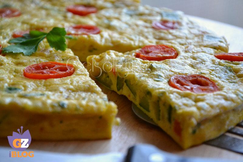 frittata al microonde con verdure miste or fetta ravv