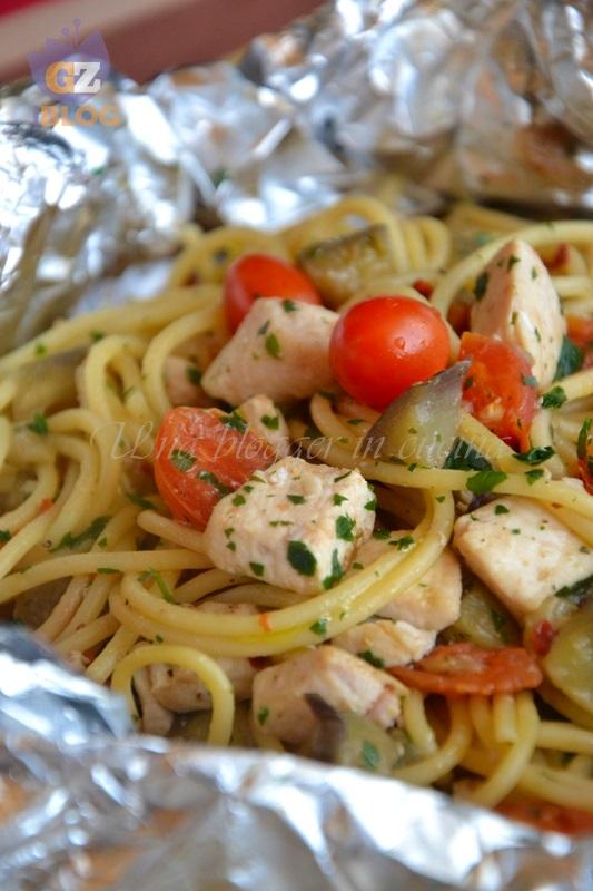spaghetti terra e mare al cartoccio (2)