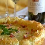 torta patate pecorino marchigiano bianchello del Metauro vert