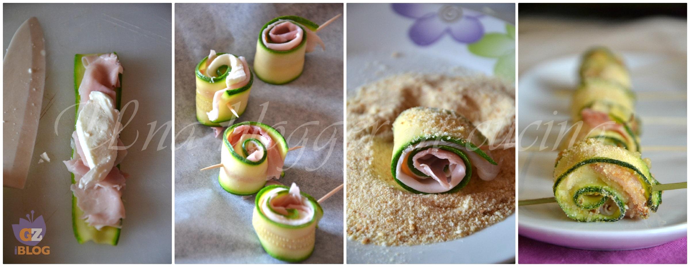 Collage rotolini zucchine