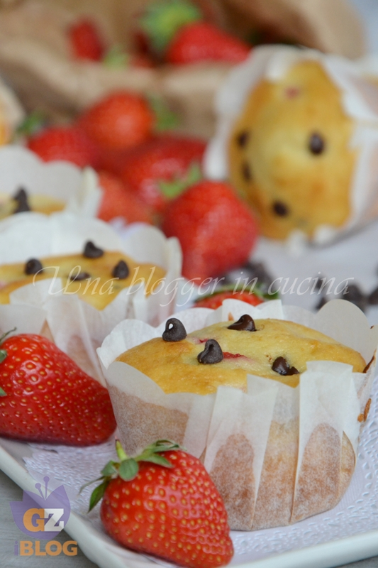 muffin fragole e cioccolato (3)