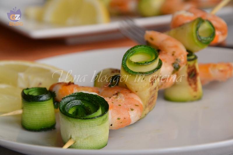spiedini di gamberi e zucchine (1)