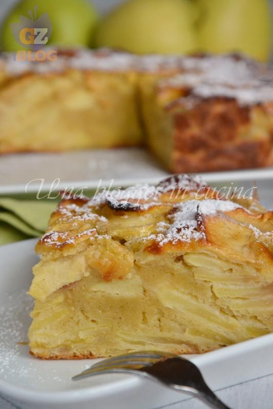 Torta fondente di mele senza burro