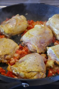 aggiunta del pollo dopo il soffritto