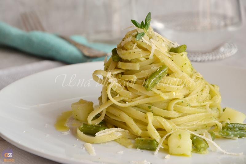 bavette pesto patate e fagiolini (1)