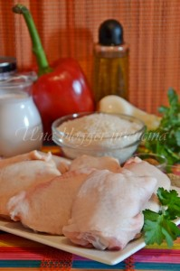 ingredienti pollo al cocco panoramica