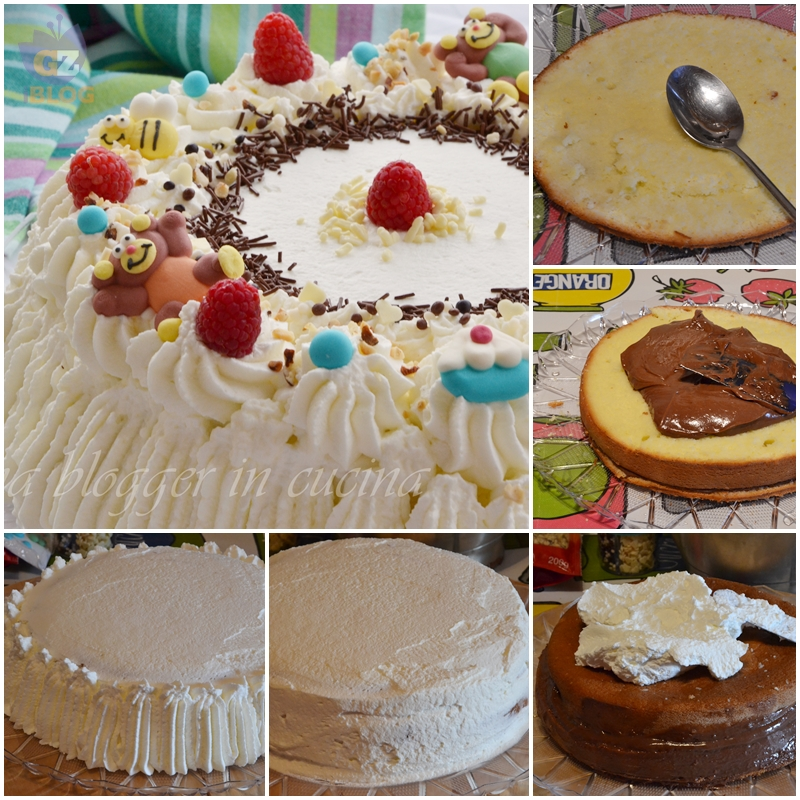 collage torta compleanno